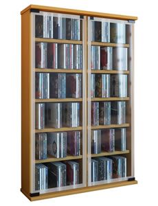 """Details zu VCM DVD/CD Schrank """"Galerie"""" für 300 CDs"""