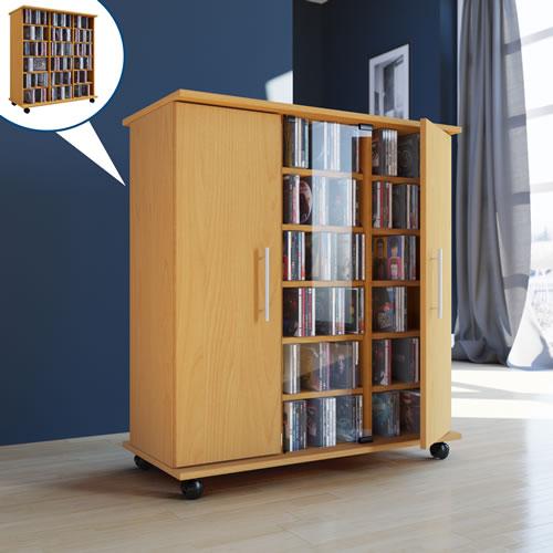 CD/DVD-Sideboard VCM Luxor für 900 CDs oder 390 DVDs (CD- und DVD-Moebel)