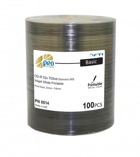 FTI FALCON MEDIA CD-Rohlinge - bedruckbar/inkjet printable weiss - 100 Stück - DIAMOND (CD-Rohlinge bedruckbar)