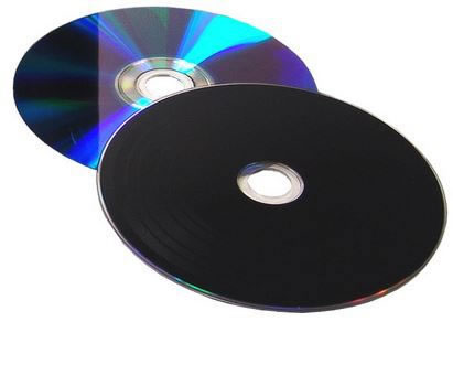 COLOUR-Line DVD-Rohlinge Vinyl Color - DVD-R- 4,7GB - Labelseite schwarz (DVD-Rohlinge etikettierbar)