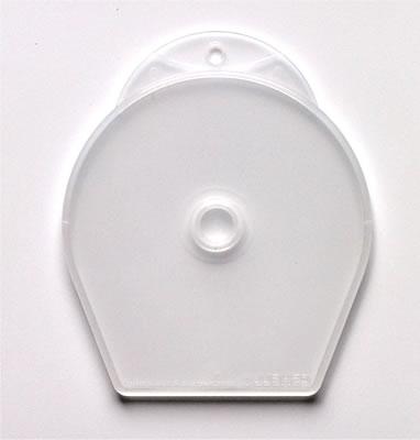 CShell Mini CD-Hüllen für 8cm Mini DVD-R - transparent frosted -  abheftbar (DVD-Huellen 8cm Mini)