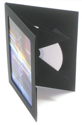 Greenline DVD-Hülle aus Karton mit Sichtfenster - schwarz (Greenline)