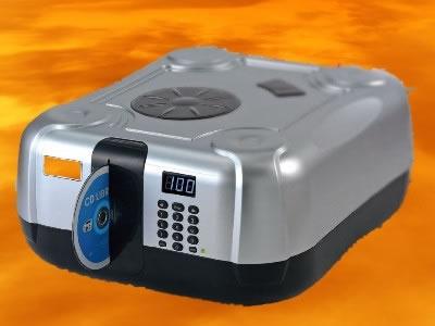 """CD/DVD-Butler """"Toaster"""" mit Brenner (Archivierungsautomaten)"""