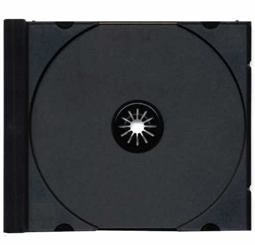 Tray für CD-Jewelcase Ultra High Quality - schwarz (CD-Huellen Jewel Case)