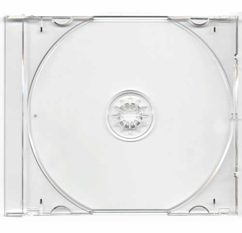 Tray für CD-Jewelcase Ultra High Quality - transparent (CD-Huellen Jewel Case)