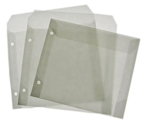 Naturpak CD Archivtasche PGA aus transparentem Spezialpapier (CD-Papierhuellen)