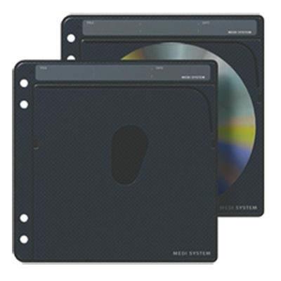 CD/DVD-Archivtasche zum Einheften für 1 bis 2 Disks - schwarz - 25 Stück (Archivtaschen)