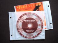 CD/DVD-Archiv-Einzeltasche mit Lochung - weiss - 50 Stück (Archivordner)