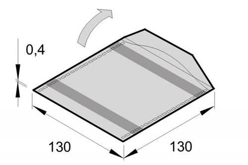 glasklare Sleeve-Tasche S mit Klappe - 480 Stück (CD-Papierhuellen)