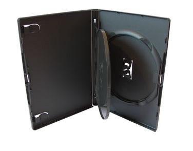 AMARAY DVD Hülle 3-fach mit Klapptray - schwarz (DVD-Mehrfachboxen)