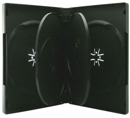 DVD-Hülle 6-fach - schwarz (DVD-Mehrfachboxen)