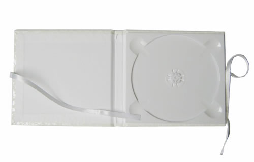 CD Art Box - weiss - Glanzstruktur Calabria (CD-Luxusboxen)