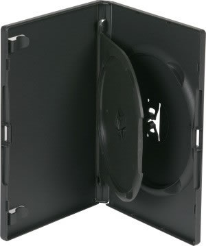 AMARAY Doppel-DVD-Hülle mit Klapptray - schwarz (DVD-Mehrfachboxen)