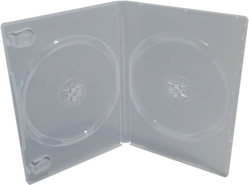 Qualitäts Doppel-DVD-Hülle - transparent (DVD-Mehrfachboxen)