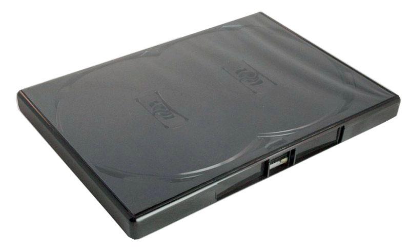 arcomm cd dvd fachmarkt dvd mehrfachboxen amaray 4 fach dvd h lle schwarz. Black Bedroom Furniture Sets. Home Design Ideas