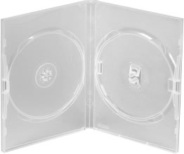 AMARAY Doppel-DVD-Hülle - transparent (DVD-Mehrfachboxen)