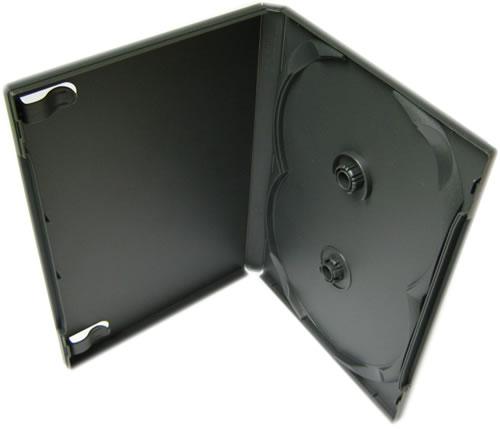 SCANAVO Doppel-DVD-Hülle - anthrazit (DVD-Mehrfachboxen)