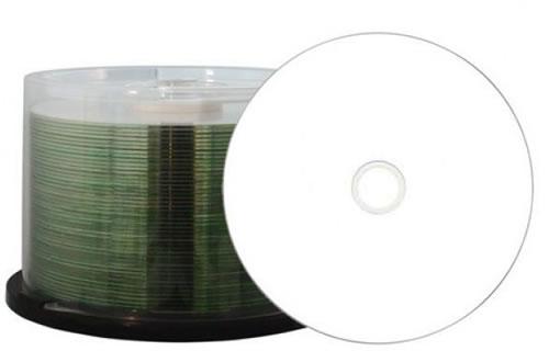 PREMIUM-Line CD-Rohlinge - diamond - Labelseite weiss - 50 Stück (CD-Rohlinge etikettierbar)