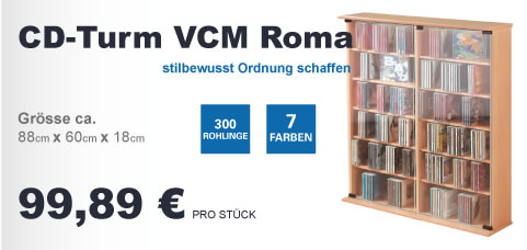 Produktwerbung CD-Turm