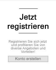 jetzt registrieren und Vorteile sichern
