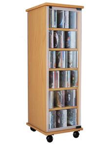 Details zu CD-Turm VCM Valenza drehbar für 300 CDs oder 130 DVDs