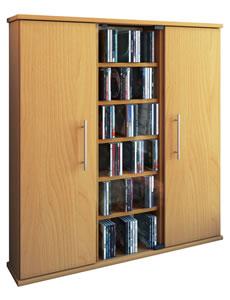 Details zu CD-Schrank VCM Santo für 450 CDs oder 195 DVDs