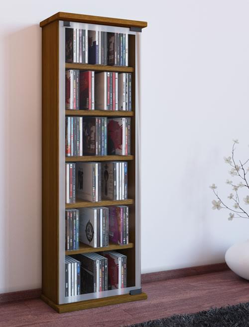 CD-Turm VCM Classic für 150 CDs oder 65 DVDs (CD- und DVD-Moebel)