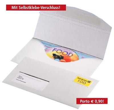 CD-Umschläge selbstklebend mit Fenster (Versandverpackung)