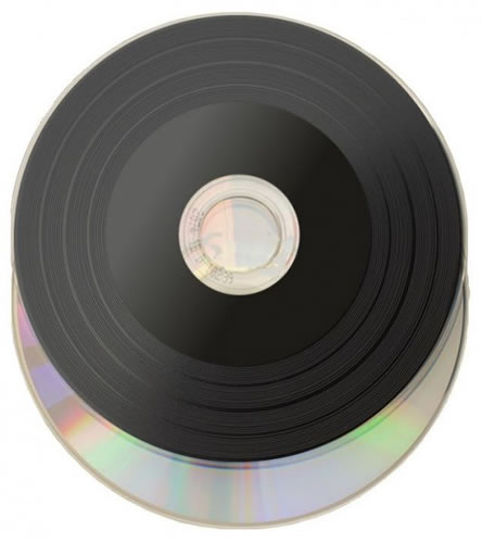 CD-Rohlinge Vinyl Mini 8cm - etikettierbar - schwarz/silber (CD-Rohlinge Vinyl)