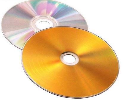 COLOUR-Line CD-Rohlinge Vinyl - gold/silber (CD-Rohlinge farbig)