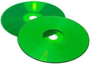 CD-Rohlinge Vinyl Color - etikettierbar - komplett grün (CD-Rohlinge Vinyl)