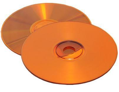 CD-Rohlinge Vinyl Color - etikettierbar - komplett orange (CD-Rohlinge Vinyl)