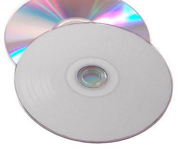 CD-Rohlinge Vinyl Color - etikettierbar - weiß/silber (CD-Rohlinge Vinyl)