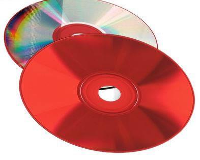 COLOUR-Line CD-Rohlinge  - Brennseite rot (CD-Rohlinge farbig)