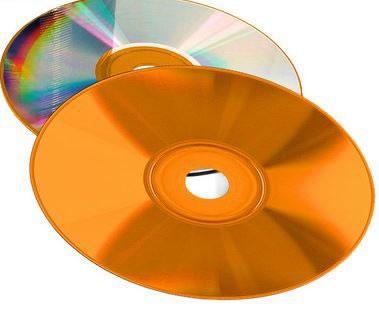 COLOUR-Line CD-Rohlinge  - Brennseite orange (CD-Rohlinge etikettierbar)