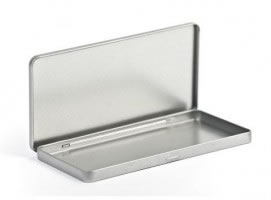 Metallhülle im Schokoladen-Tafelformat ohne Fenster  (Designer Metallhüllen) (CD-Boxen Metall)