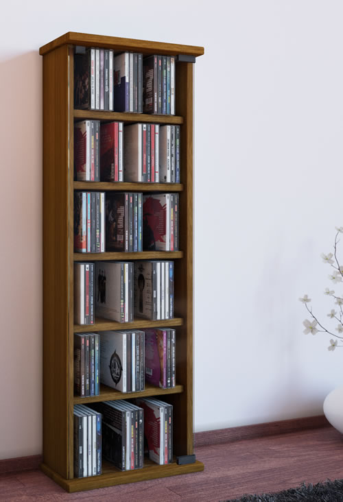 CD-Turm VCM Vetro für 150 CDs oder 65 DVDs (CD-Tuerme 100-300)