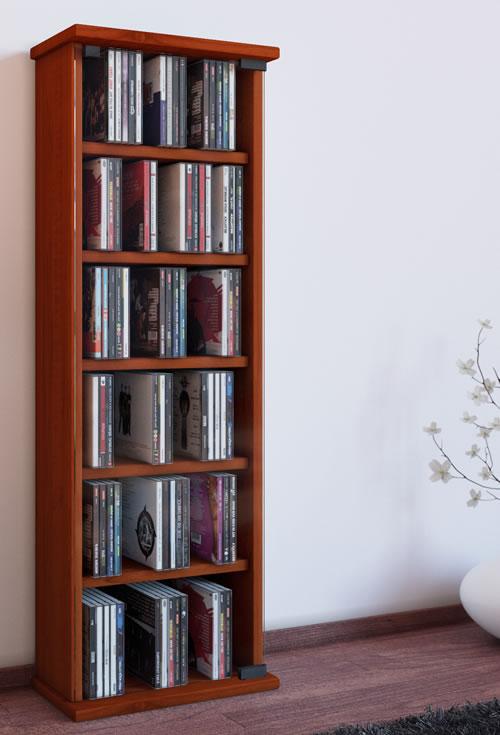 CD-Turm VCM Vetro für 150 CDs oder 65 DVDs (CD- und DVD-Moebel)