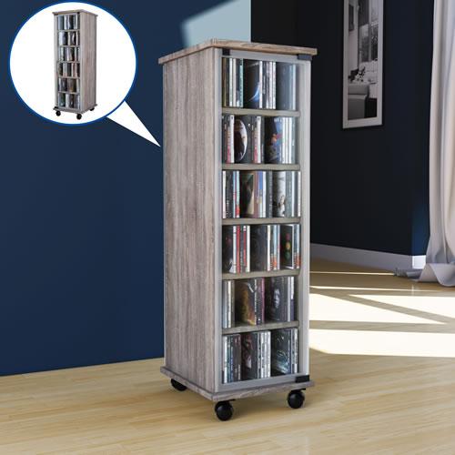 CD-Turm VCM Valenza drehbar für 300 CDs oder 130 DVDs (CD-Tuerme 300-500)