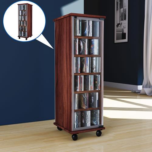 CD-Turm VCM Valenza drehbar für 300 CDs oder 130 DVDs (CD-Tuerme 100-300)