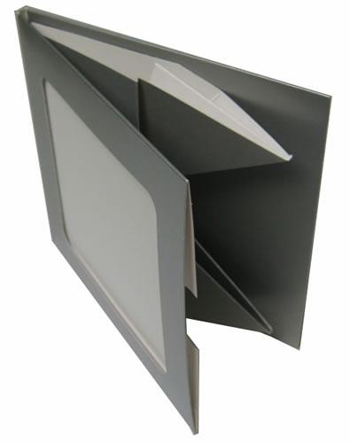 Greenline CD-Hülle aus Karton mit Sichtfenster - silber (Greenline)