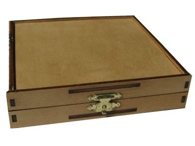 Greenline CD-Holzbox Birke dunkel (Greenline)