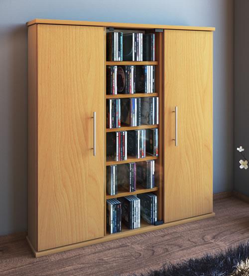 CD-Schrank VCM Santo für 450 CDs oder 195 DVDs (CD- und DVD-Moebel)