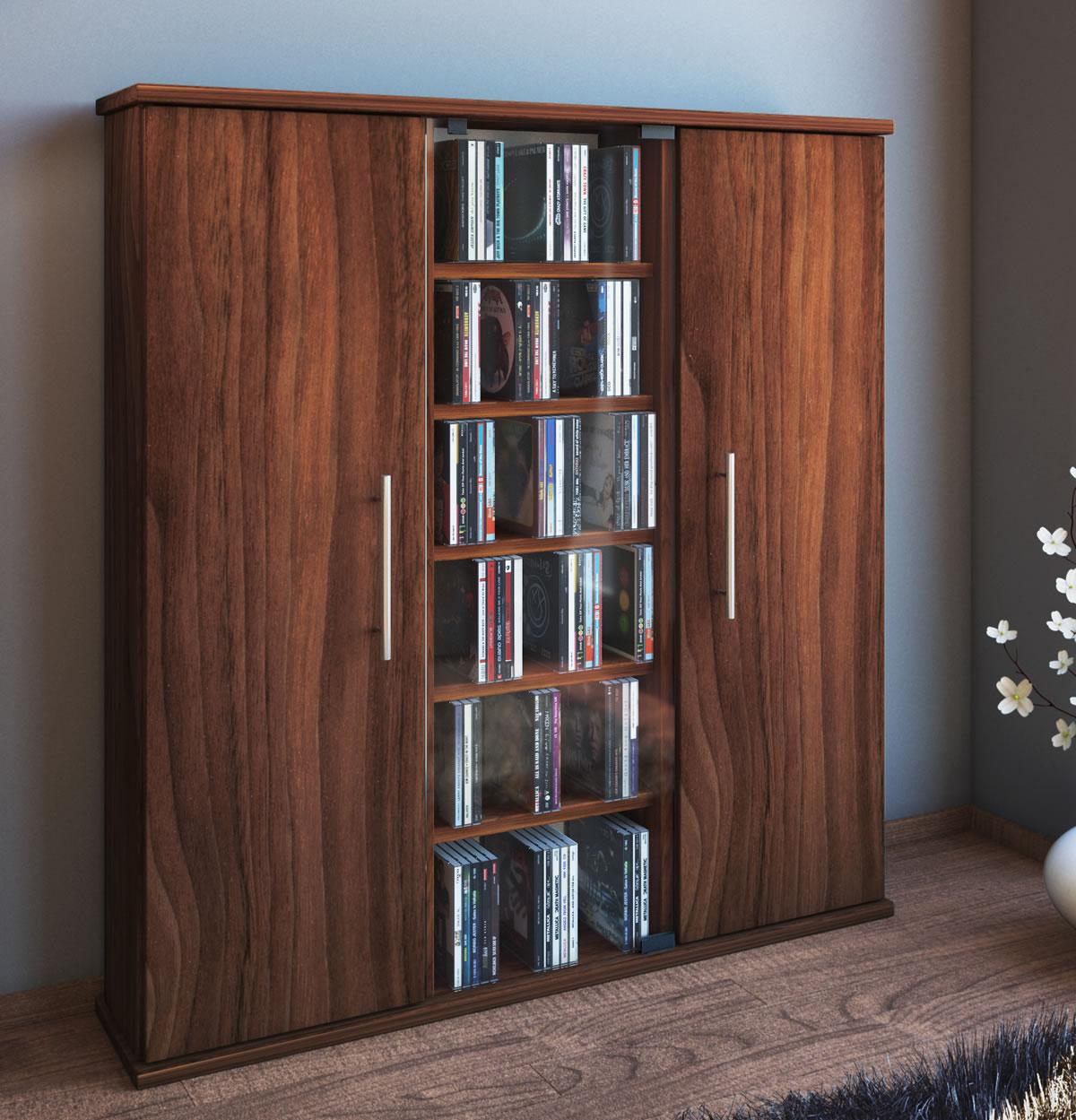 cd schrank vcm santo f r 450 cds oder 195 dvds hier im cd fachmarkt. Black Bedroom Furniture Sets. Home Design Ideas