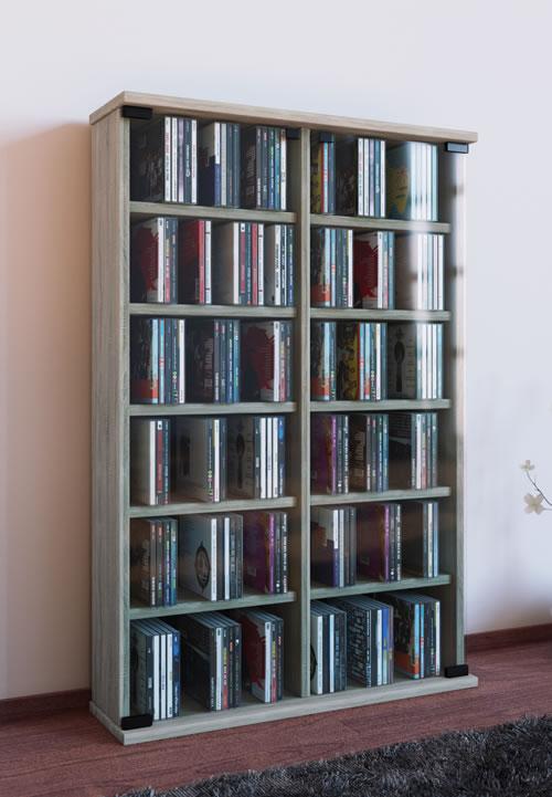 CD-Turm VCM Roma für 300 CDs oder 130 DVDs (CD-Tuerme 300-500)