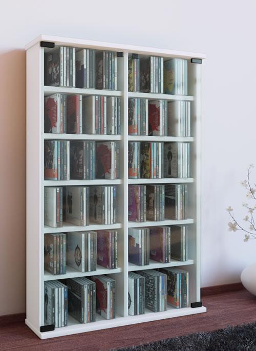 CD-Turm VCM Roma für 300 CDs oder 130 DVDs (CD- und DVD-Moebel)