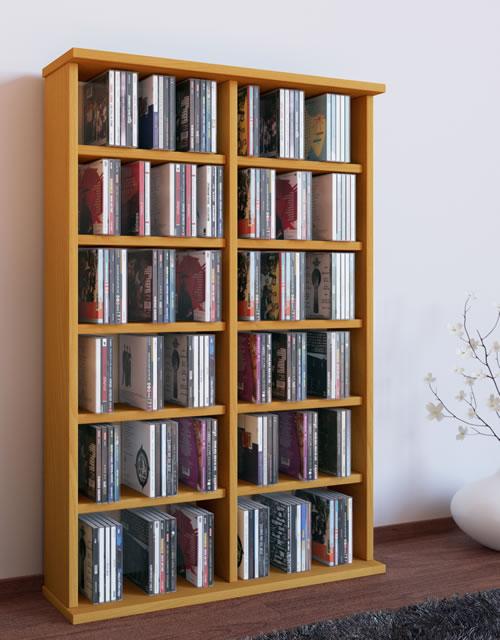 """VCM CD/DVD-Turm """"Ronul"""" für 300 CDs oder 130 DVDs (CD- und DVD-Moebel)"""