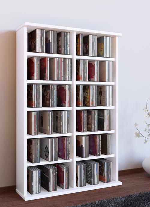 "VCM CD/DVD-Turm ""Ronul"" für 300 CDs oder 130 DVDs (CD-Tuerme 100-300)"