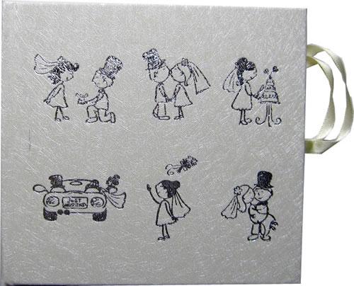 CD Art Box - weiss - mit Hochzeitsbildern (CD-Luxusboxen)