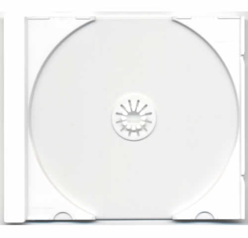Tray für CD-Jewelcase Ultra High Quality - weiss (CD-Huellen Jewel Case)